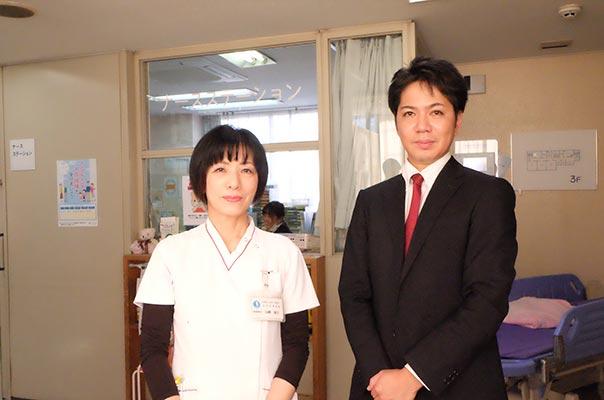 写真:医療法人社団 福寿会 赤羽岩渕病院 山崎看護統括師長