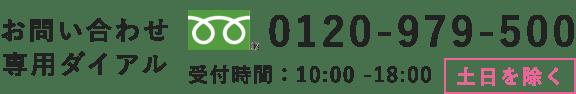 お問い合わせ専用ダイヤル 0120-979-500