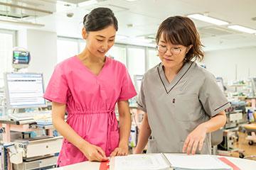 患児ごとにケアで配慮するべきポイントをスタッフ間で共有。