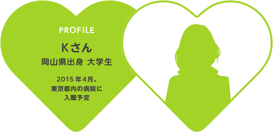 Kさん 岡山県出身 大学生